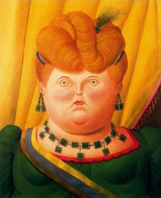 Fernando Botero grasso ragazza -6 Home Decor Artigianato / HD Stampa della pittura a olio su tela di canapa di arte della parete della tela di canapa Immagini 200206