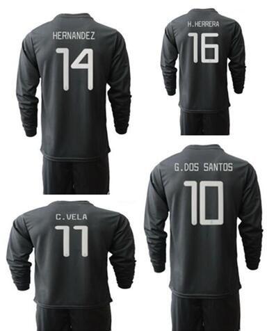 Mexico Gold Cup 2019 Camisetas de fútbol de manga larga Conjuntos de camisetas Con pantalones cortos, Personalizados Hombres Chándal de fútbol Tienda de fútbol en línea de Jersey viste