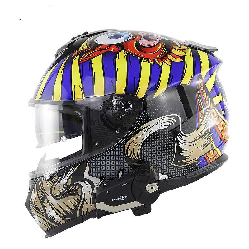ECE Standard Motorcycle Race Car Helmet Bluetooth WIFI Camera Recorder High-definition APP Intercom Helmet Full Face