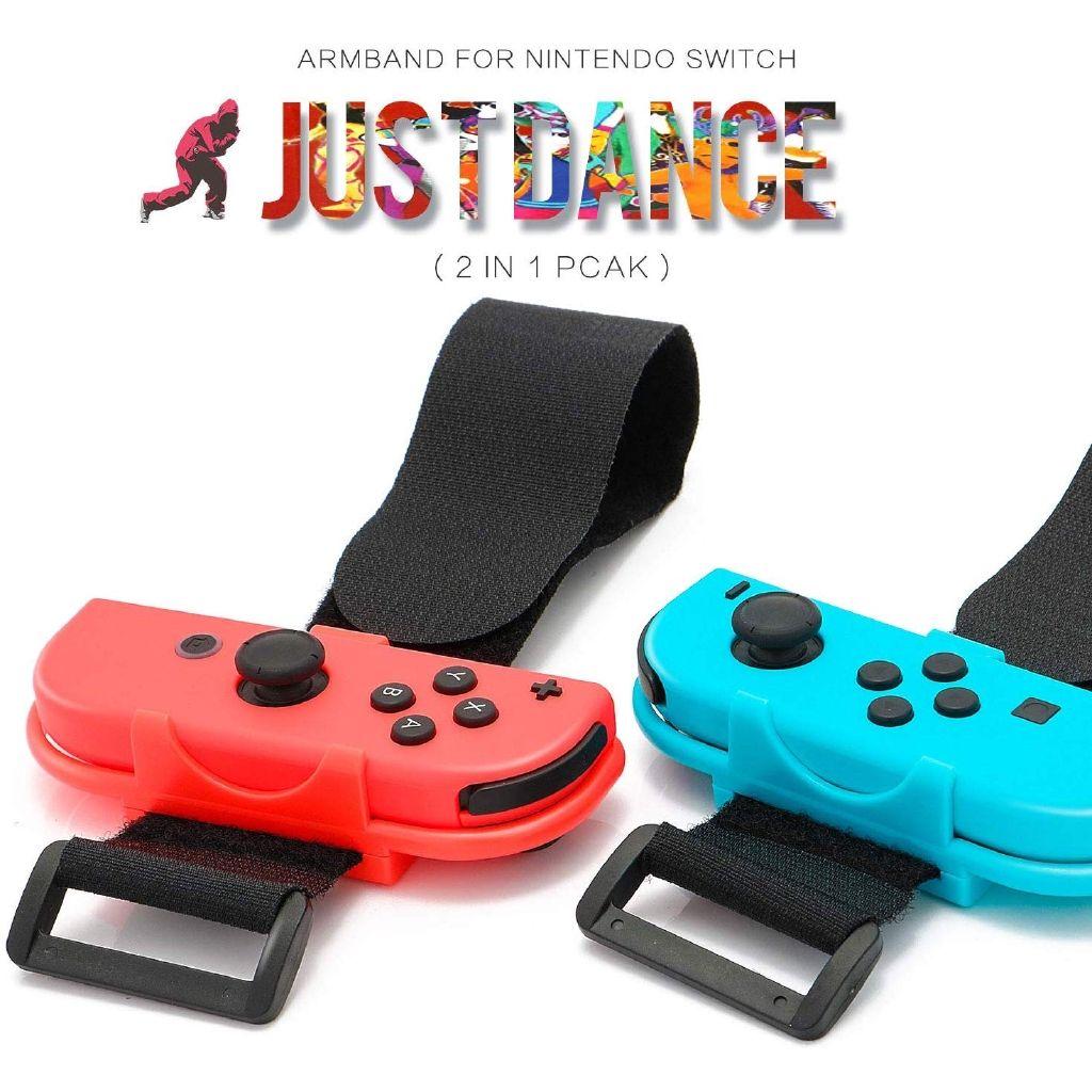 Bandas de pulso para Nintendo Mudar Just Dance Jogo- Azul e Vermelho (Fit para Fina pulso - 3.15-7.5 polegadas Wrist Circunferência)