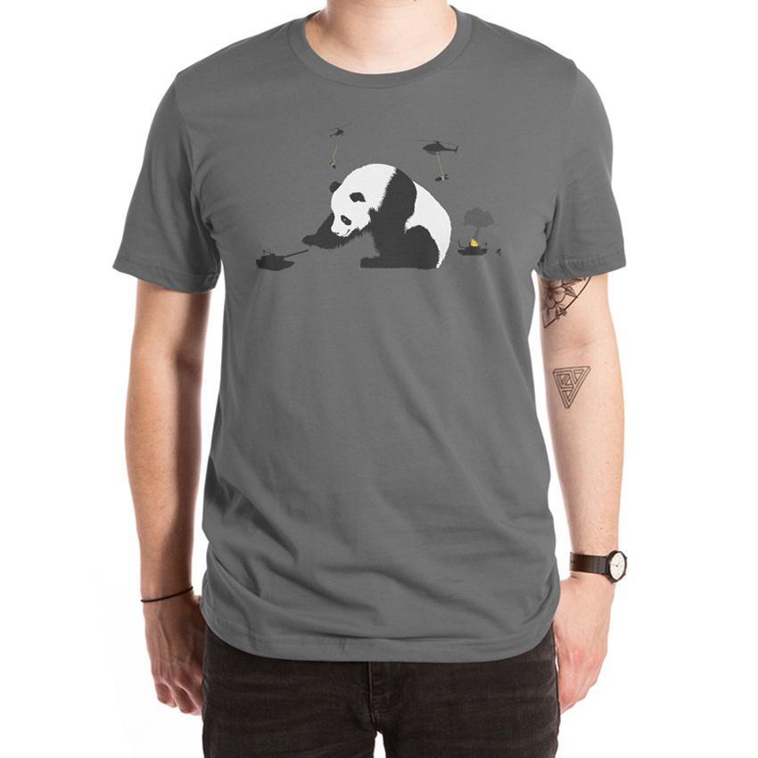 Pandamonium T Shirt army pandas bears panda bears pandamonium heather grey