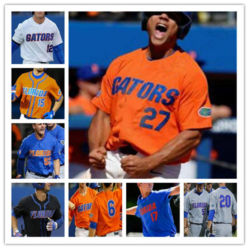 Колледж Флорида Аллигаторы бейсбола NCAA 20 Пит Alonso 37 Джексон Kowar 23 Джек Leftwich 17 Майкл Бирн 27 Нельсон Мальдонадо Джерси