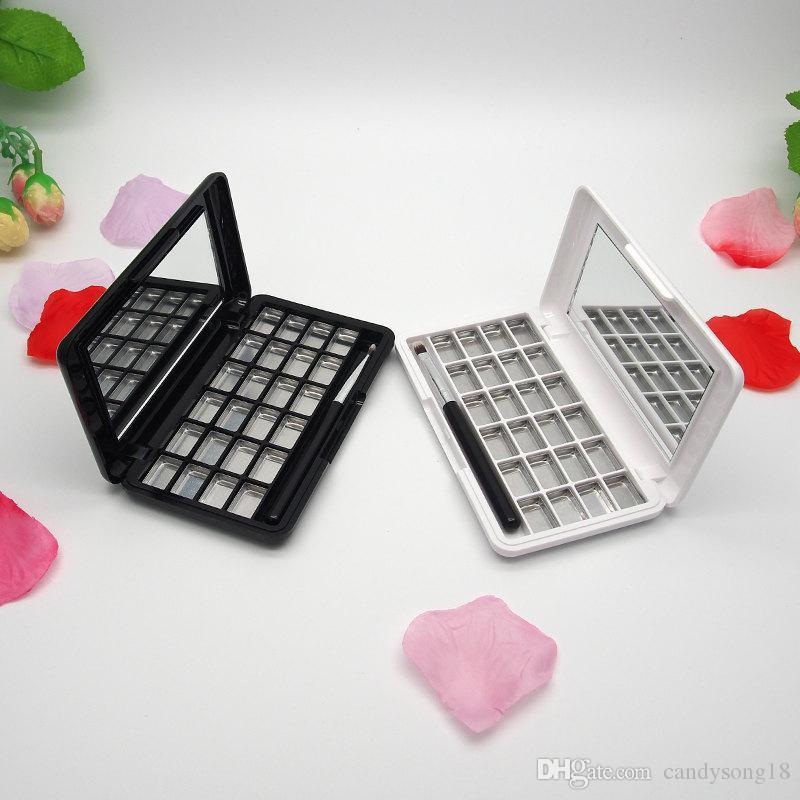 24 Grids Sombra de Olho Vazio com Espelho, Maquiagem Ferramenta, Cosméticos DIY de Alta Qualidade Caixa De Plástico Transporte Rápido F1862