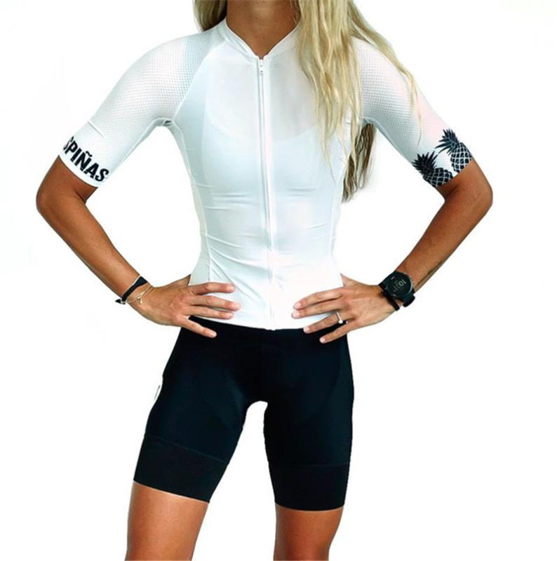 Ciclismo Jersey Set 2020 tres Pinas Mulheres moto terno verão Bicicleta Vestuário Ciclo Jersey Bib curto Wear Suit Gel Pad Roupa Estrada