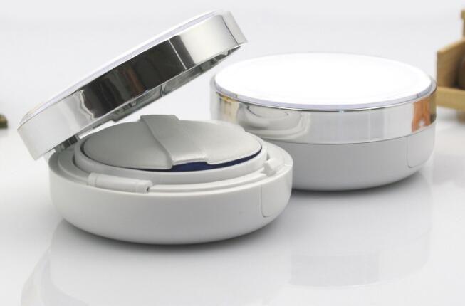 10pcs 15ml DIY belleza componen caso Vacío DIY del amortiguador de aire caja de soplo BB Crema de contenedores con la esponja del soplo de polvo