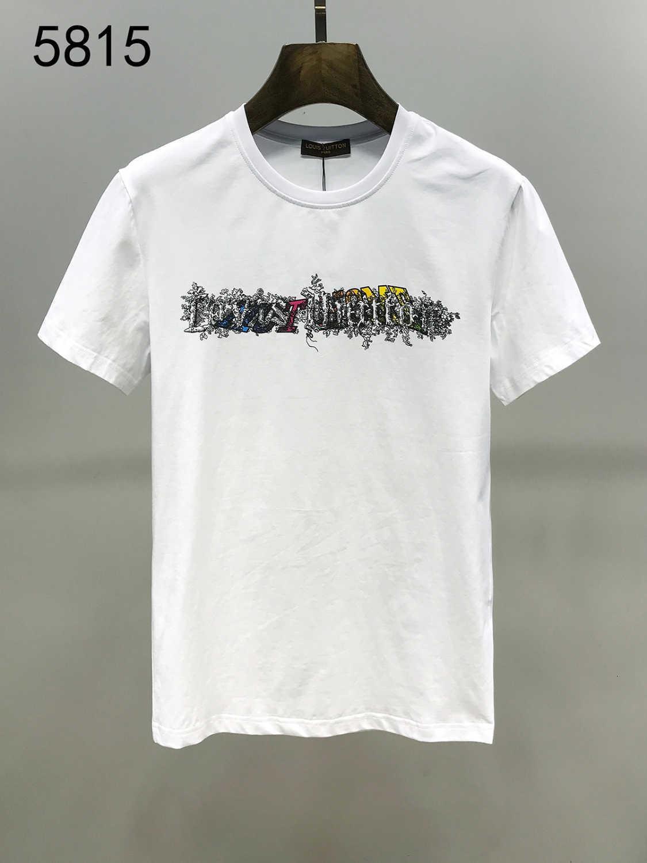 2020 verano nuevo patrón personalizada Hombre de manga corta camiseta de Tiempo libre La mitad de tipo delgado de marea ropa 11292