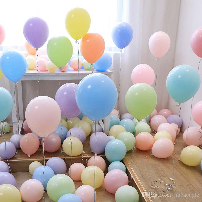 100PC 10inch Macaron Latex Balloons Candy Colors Party Wedding Birthday Decor