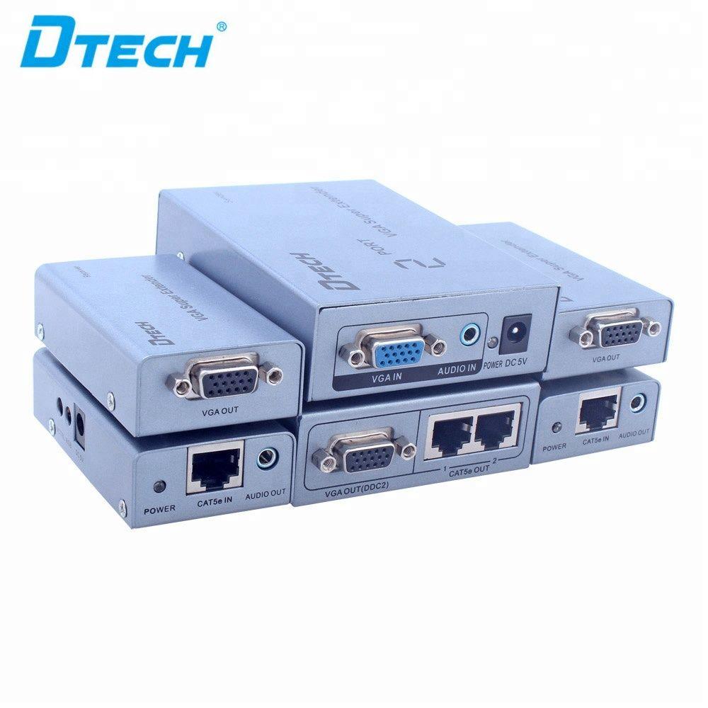 Sıcak satış HD 1080P 2 portu VGA ses video genişletici Moda ve dayanıklı tak ve cat5 VGA genişletici