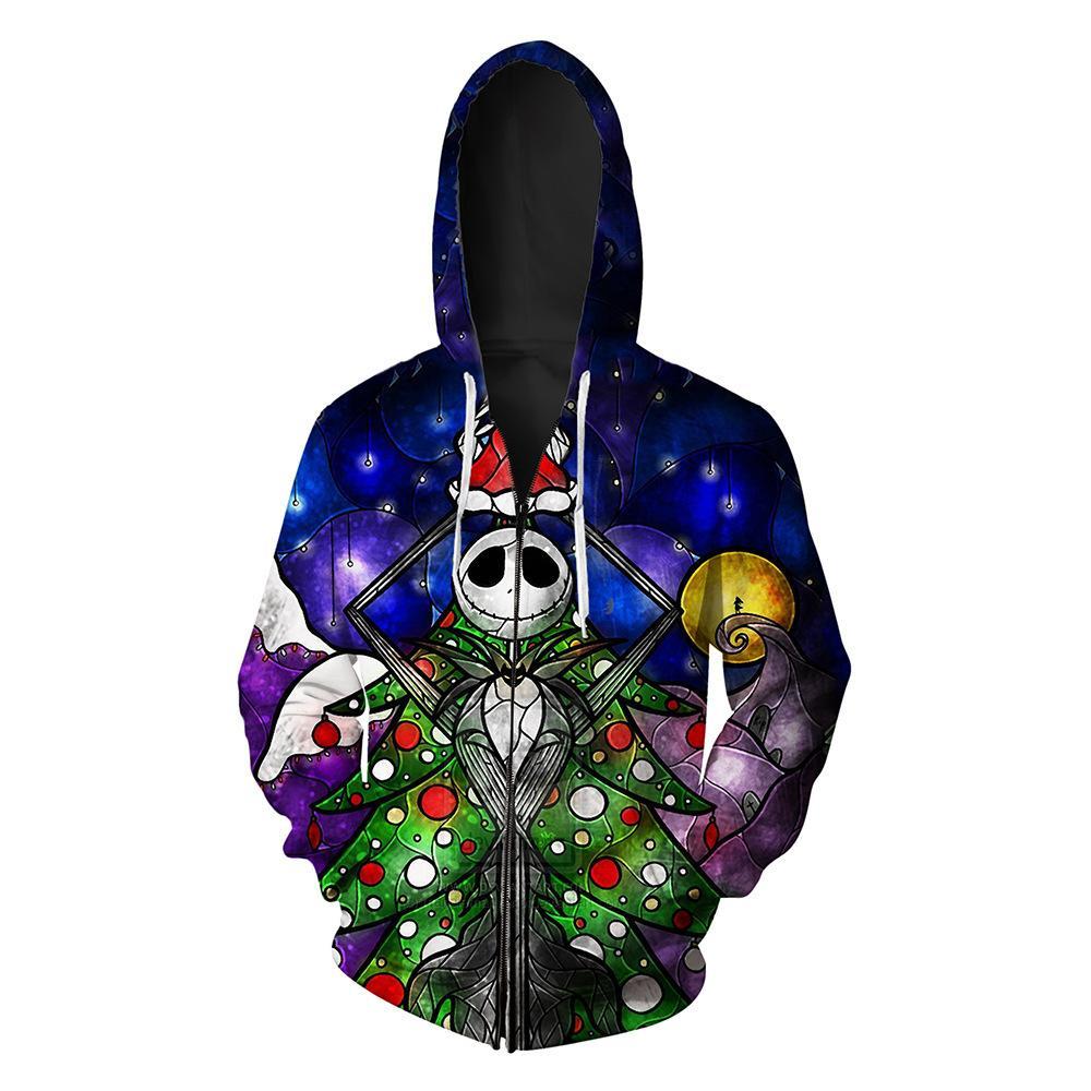 Halloween Череп напечатанных Мужской с открытым верхом и HAT GUARD моды Молнии Мужской гвардий Толстовка Печать Блуза толстовка