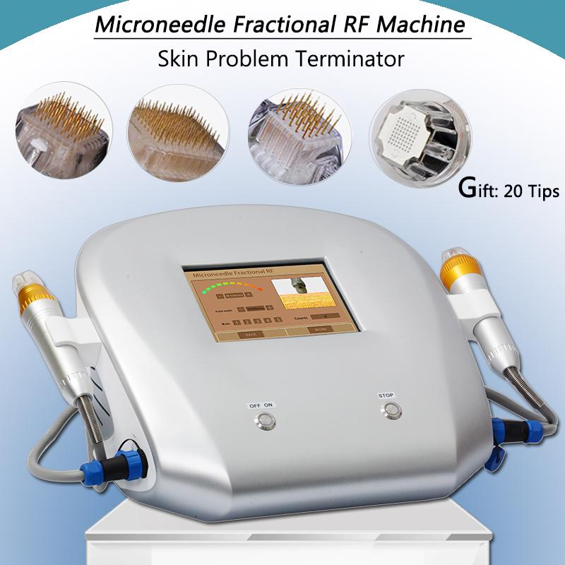 microneedle rf machine fractional micro needle face lift equipment 2 years warranty acne scars removal winkle remover free shipping