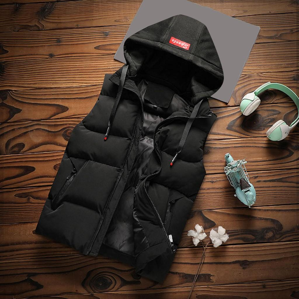 Mann-Winter-beiläufige Warm Zipper Patchwork Weste Blase Mantel Parka Tops Mäntel Parkas Outwear Winterjacke Männer Kleidung