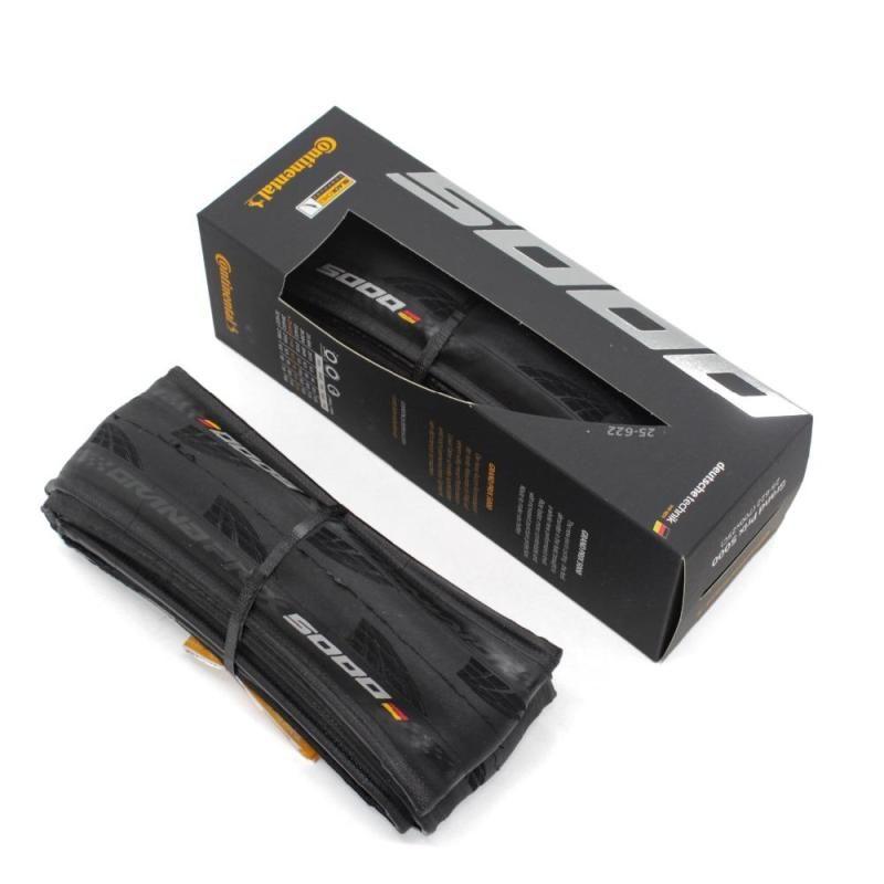 Original Grand Prix Continental GP 5000 700 x 23/25 / 28C Road Bike Clincher FoldableTire com caixa Ativo Confortável