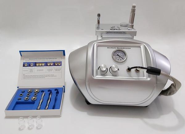 2 Yüz Cilt Peeling için 1 Taşınabilir Kristal Dermabrazyon Ve Elmas Uç mikrodermabrazyon makine cilt gençleştirme Temizleme Makinesi İÇİNDE