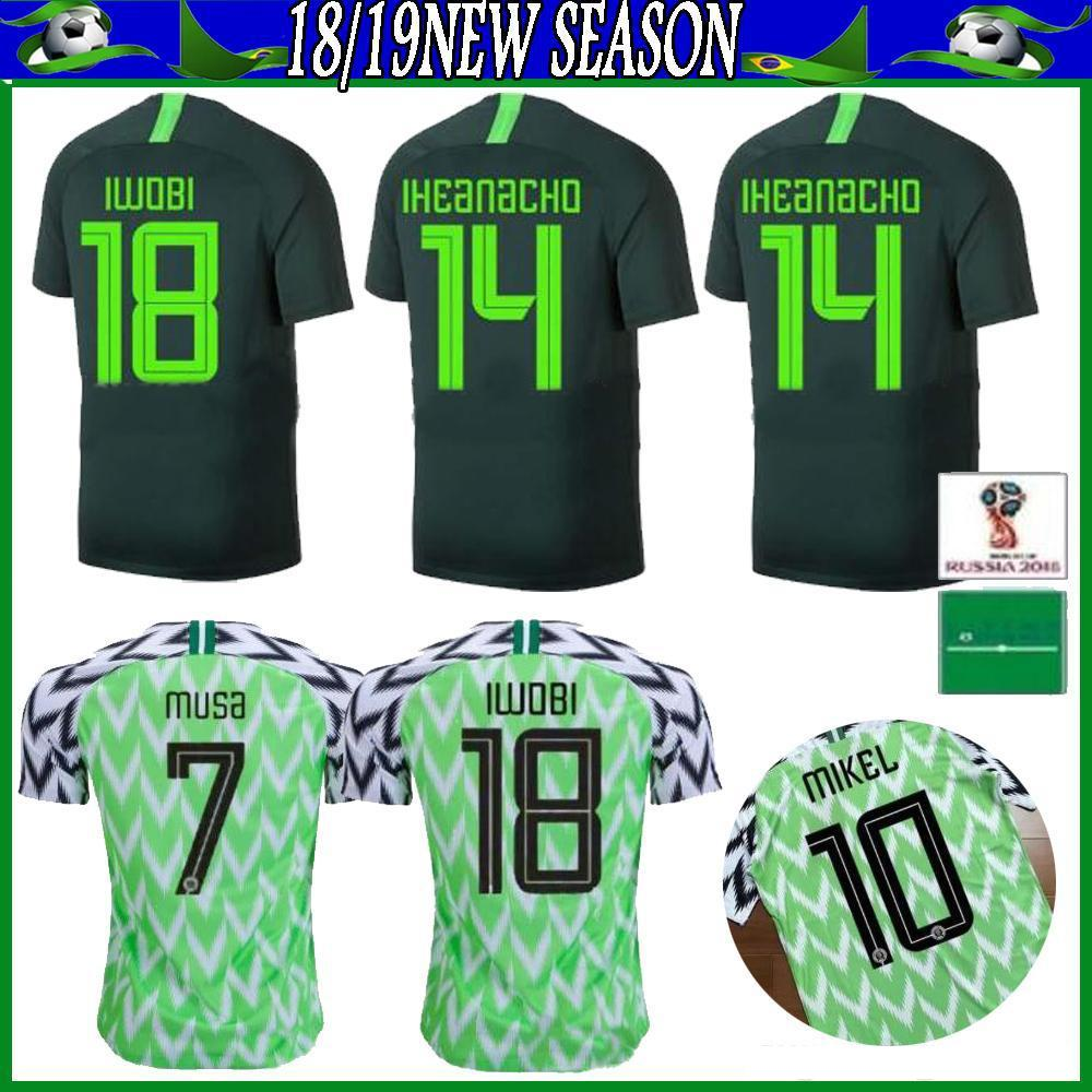 20 Africa Cup Nigeria Home Away Soccer jersey 20 21 maillot de foot Nigeria Okechukwu OKOCHA AHMED MUSA MIKEL IHEANACHO Football shirts