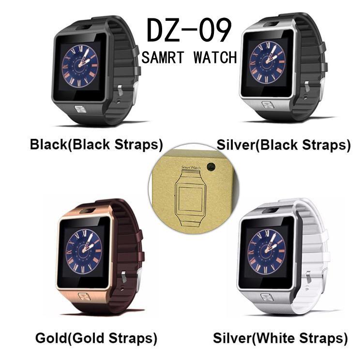 شاشة DZ09 الذكية ووتش بلوتوث النوم المقتفي ساعة ذكية لمكافحة خسر دعم GSM SIM بطاقة TF مكالمة هاتفية الذكية ووتش مع كاميرا HD LCD اللون