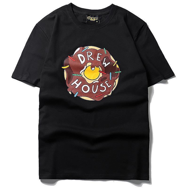 t-shirt Uomo celebrità Donuts stesso paragrafo cioccolato stampa moda in cotone a maniche corte Hip hop Tutto-fiammifero manicotto mezzo del nuovo stile