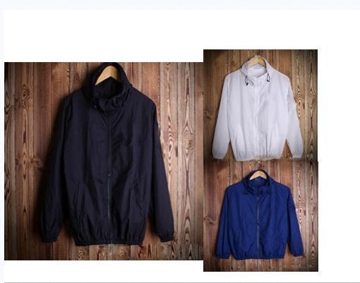 İlkbahar ve sonbahar moda düz renk kapüşonlu ceket Çift ceket su geçirmez hoodies # windbreakerbe3f hip hop olağan biçimde kanye