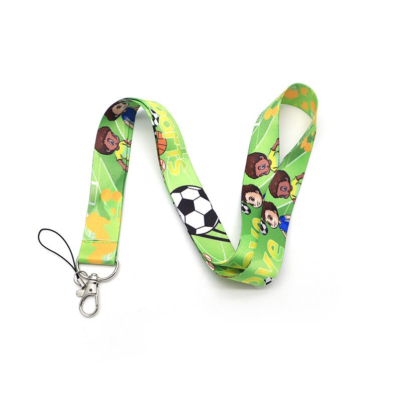 20pcs/lot Sports Football Lanyard For Keychain ID Card Pass Mobile Phone Badge Holder Hang Rope Lariat Lanyard Key Holder Q915