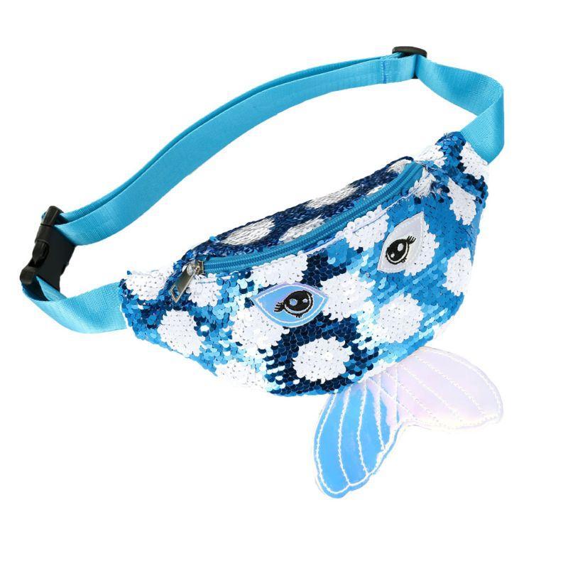 Mulheres Holographic Lantejoula cintura Bloco de Fanny Moda Belt Bag bolsa de viagem Hip Bum Bolsas de Ombro Bolsa 5 cores