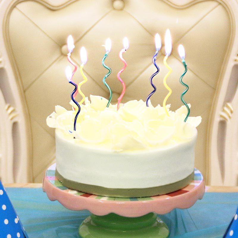 Magnificent Long Curve Cake Candles Mix Color Birthday Candle Wedding Birthday Funny Birthday Cards Online Unhofree Goldxyz