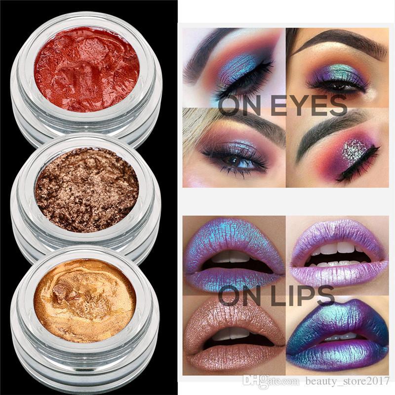 1 PCS Cor Única Glitter Paleta Sombra de Olho Shimmer Creme Eyeshadow Olhos Brilhantes Perolados Longa Duração Highlighter Maquiagem Cosméticos