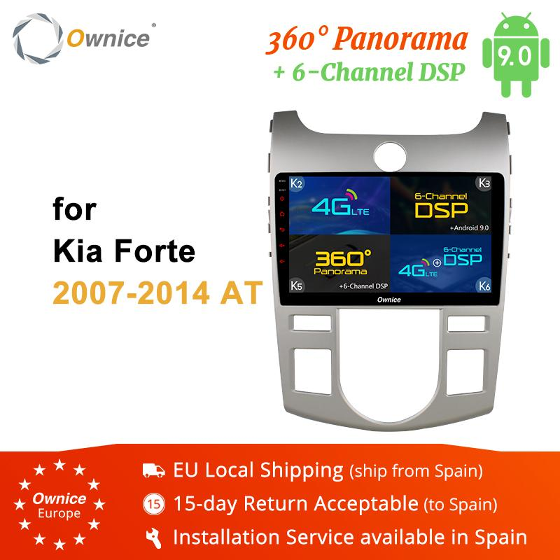Ownice K1 K2 K5 K6 الروبوت 8.1 الثماني 8 لاعب راديو الأساسية للحصول على سيارة كيا Fotre 2010 2011 2012 2013 2014 DVD 4G بطاقة SIM DAB + DVR سيارة دي في دي