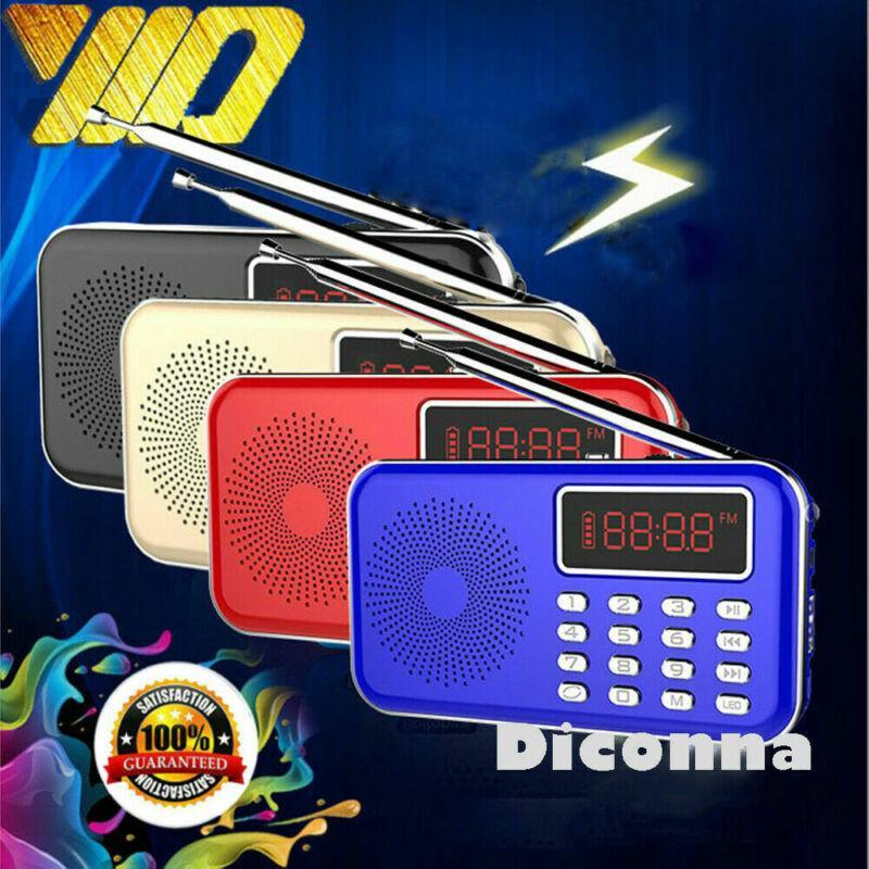 YENİ Mini Taşınabilir LCD Dijital FM Radyo Hoparlör USB SD TF Kart Mp3 Müzik Çalar