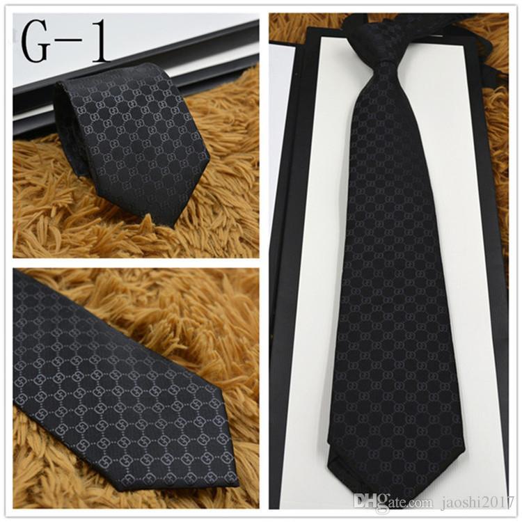 Date luxe designer cravates haute qualité 100% soie cravate mode marque cadeau boîte 7 cm édition classique marque hommes cravates étroites rapide bateau