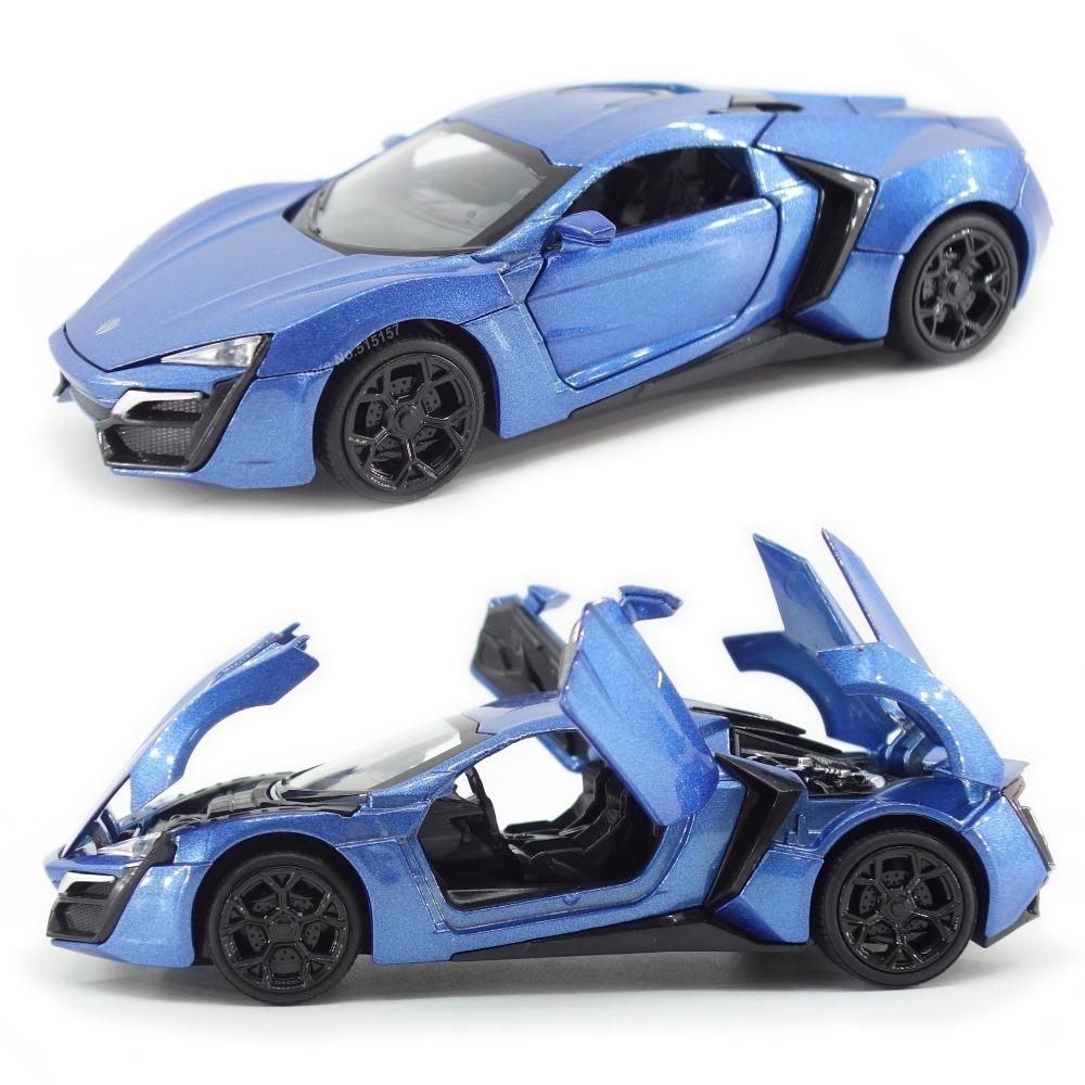 Сплав Lykan Hypersport Металлические модели Прицепные спортивный автомобиль Назад Коллекция Brinquedos Детские игрушки Для детей Для мальчиков Подарочные Diecasts игрушки J190525