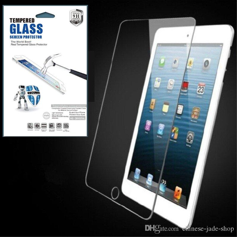 For ipad mini 5 2019 ipad mini 1 2 3 4 9H Tempered Glass Screen Protector Protector IN Paper Retail Package 100pcs/lot