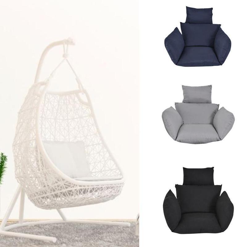 Chaise hamac Coussins Coussins hangmat doux balancement Siège 220kg Chambre Fauteuil Suspendu Jardin extérieur
