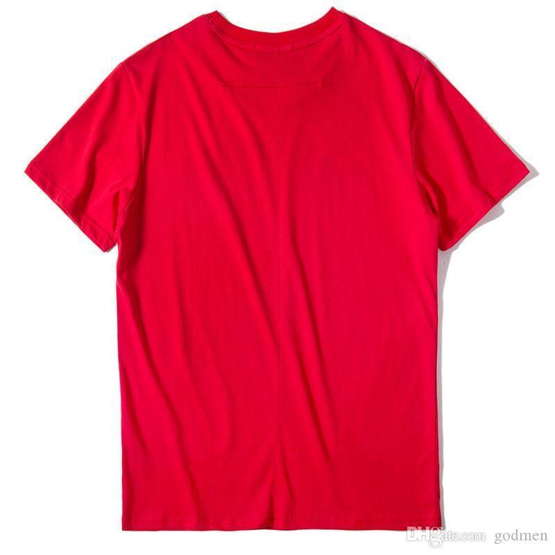 Lüks Erkek Tasarımcı Tişörtlü Yumuşak Casual Köpek Kısa Kollu Moda Erkekler Kadınlar Hip Hop Tees Kırmızı Renkler yazdır