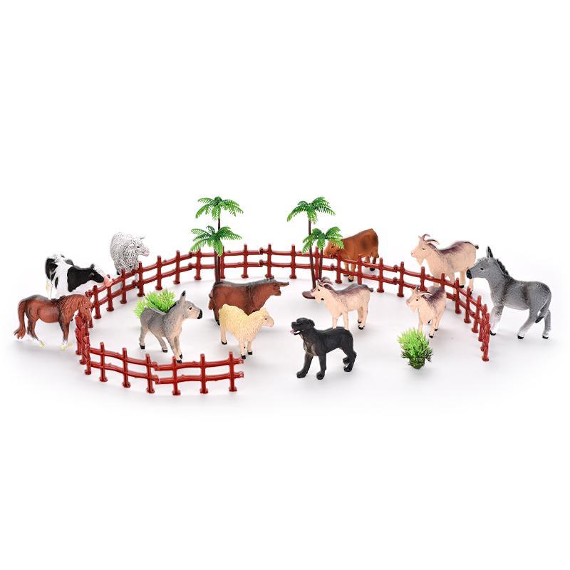 TW2004024 Farm Animal Set Plastic box Funny Educational Toy Mini Farm Animal Toy