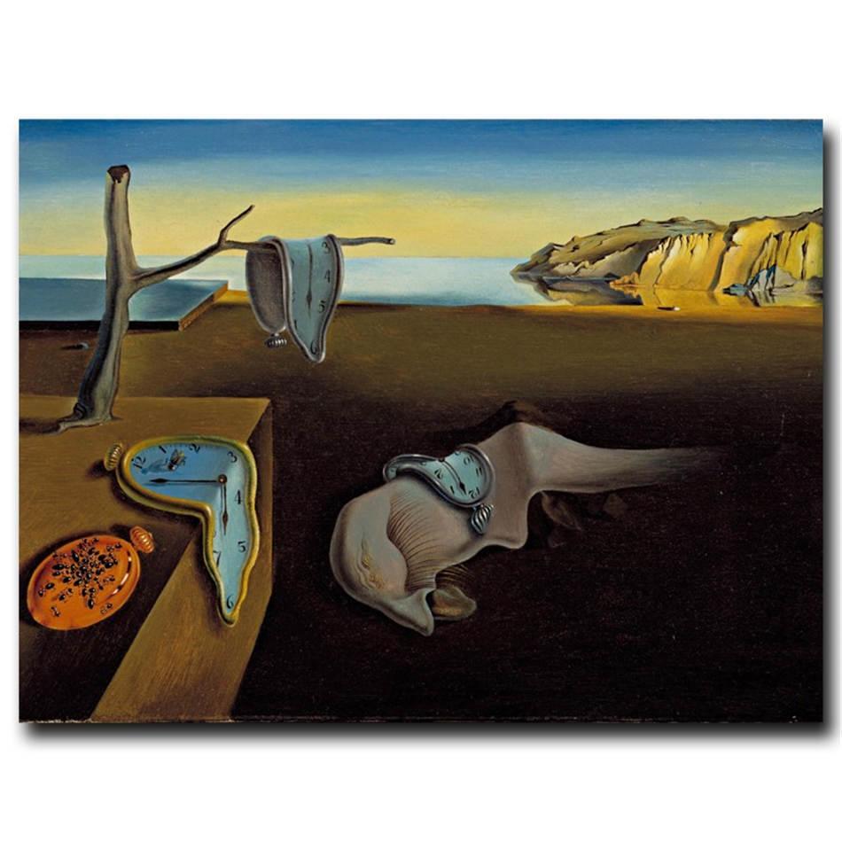 Salvador Dali, Horloges Surréaliste, Impression toile HD Nouvelle Maison Décoration Art Peinture / (Unframed / encadré)