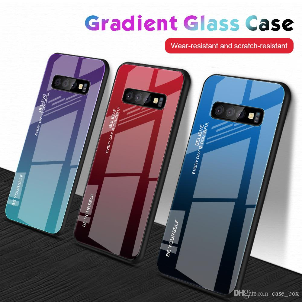 Cassa ibrida di pendenza di vetro per Samsung Galaxy A10 A20E A20 A30 A50 A40 A60 A70 M20 M30 S11 Inoltre S11e copertura Scratch-Anti antiurto