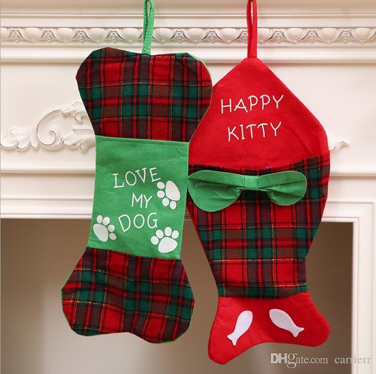 Noel Balık Kemikleri Stocking Kemik Şekilli Festivali Ağacı Yaratıcı Çocuklar Hediye Çantası Christams Süslemeleri 2 Stilleri OOA5427 p