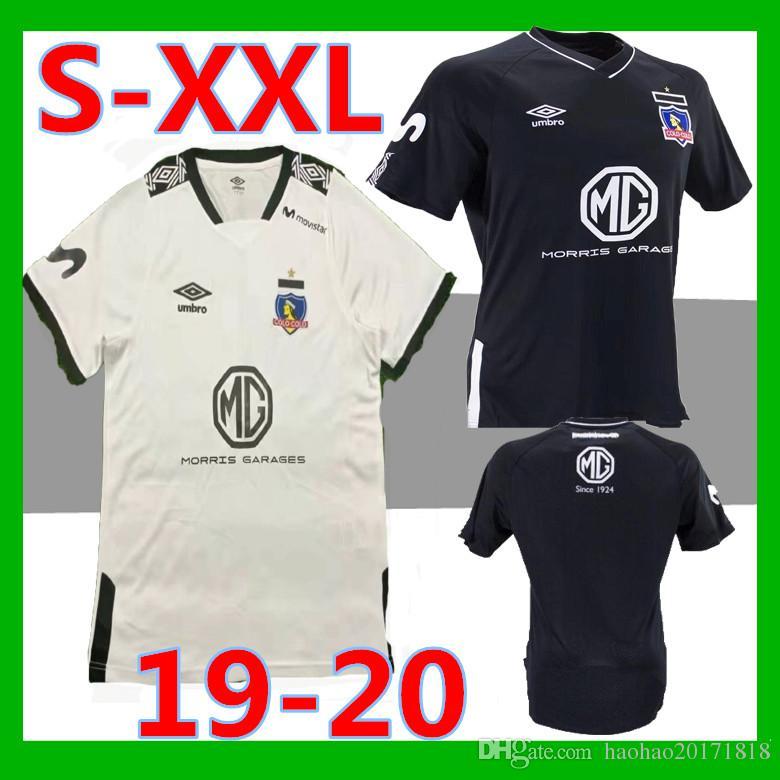 Acquista Taglie: S XXL 2019 2020 Colo Colo Maglie Calcio 19 20 Thailandia Qualità Colo Colo Casa Bianco Away Nero Maglia Da Calcio Camiseta De Futbol ...