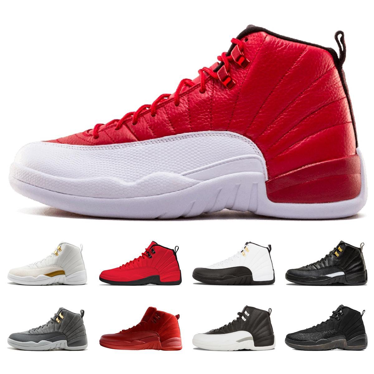 12 Gym Erkekler Tasarımcılar UNC Michigan Koleji Donanma Klasik CNY Playoff siyah beyaz Tasarımcı XII Sport Sneakers Eğitmenler Için Basketbol Ayakkabı kırmızı