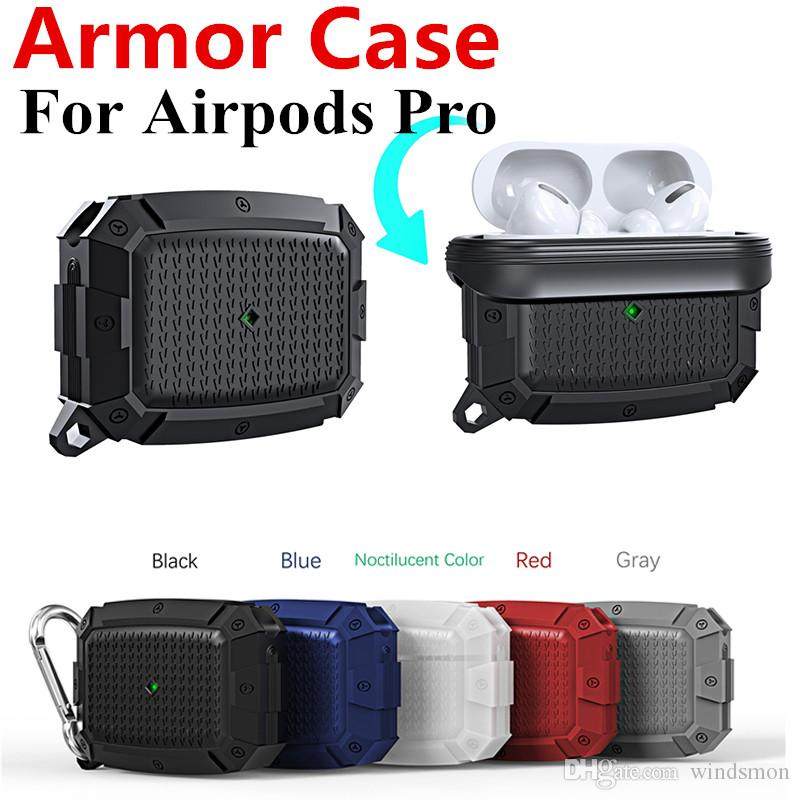100pcs Luminous Earphone Case For AirPods Pro Shockproof Armor Silicone Full Protective Cases for Apple Airpods Case Air Pods Soft Case