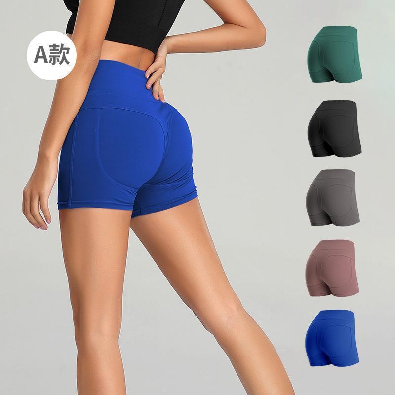 Consegna veloce Sporting allenamento innazitutto Athletic Leggins donne Yoga Pants Shorts Solid FY9091 a colori ad alta vita sottile jogging