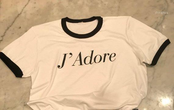 Skuggnas J Adore amour Boyfriend Fit blanc T T-shirt décontracté Valentines jour à manches courtes Mode Hauts T femmes T Tumblr shirt1