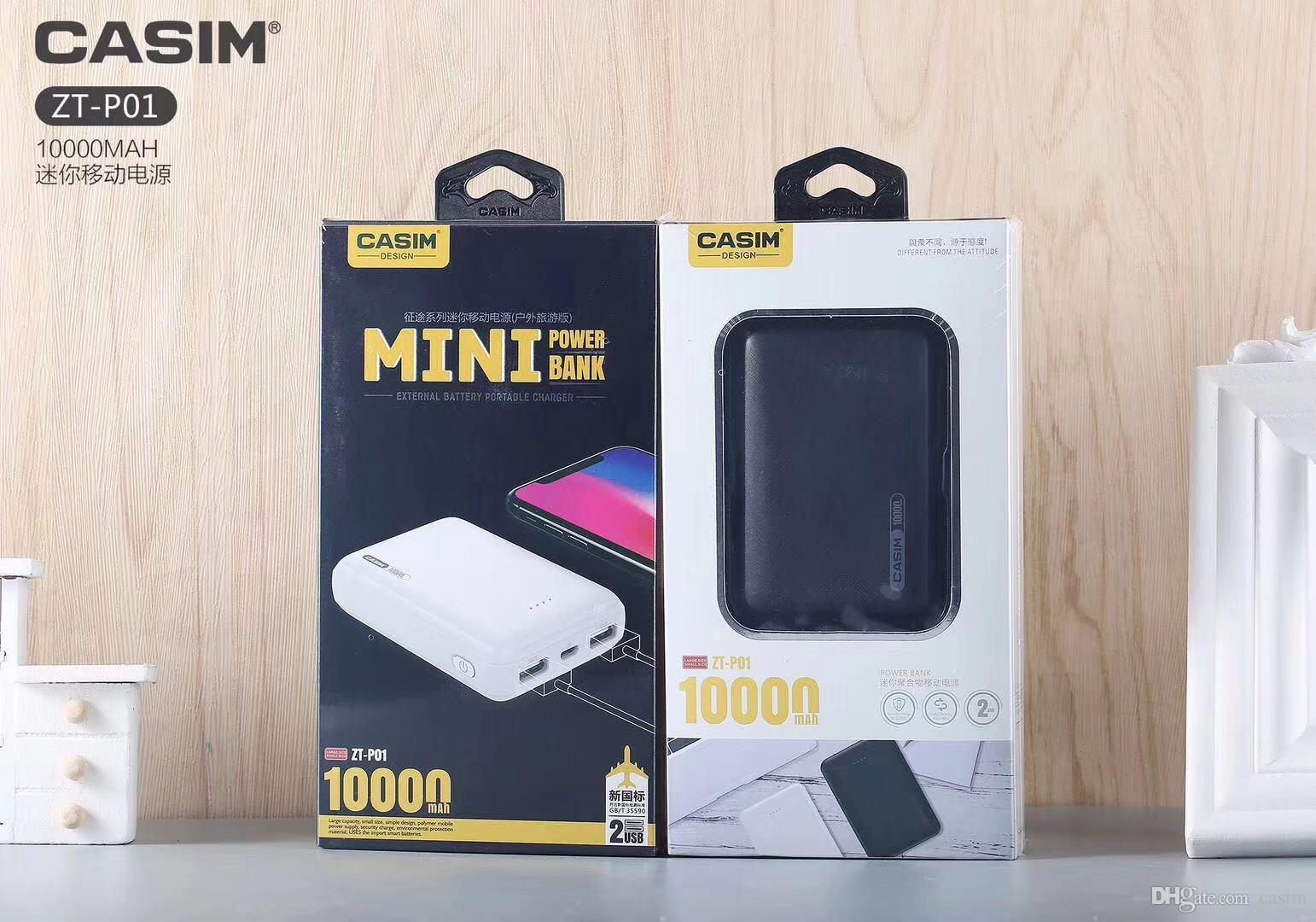 YENI CASIM Mini İş Mobil Güç 100% Tam Kapasiteli 10000 mAh Sahte bir kaybetmek on Büyük Kapasiteli Şarj iPhone X XS Max 7 artı