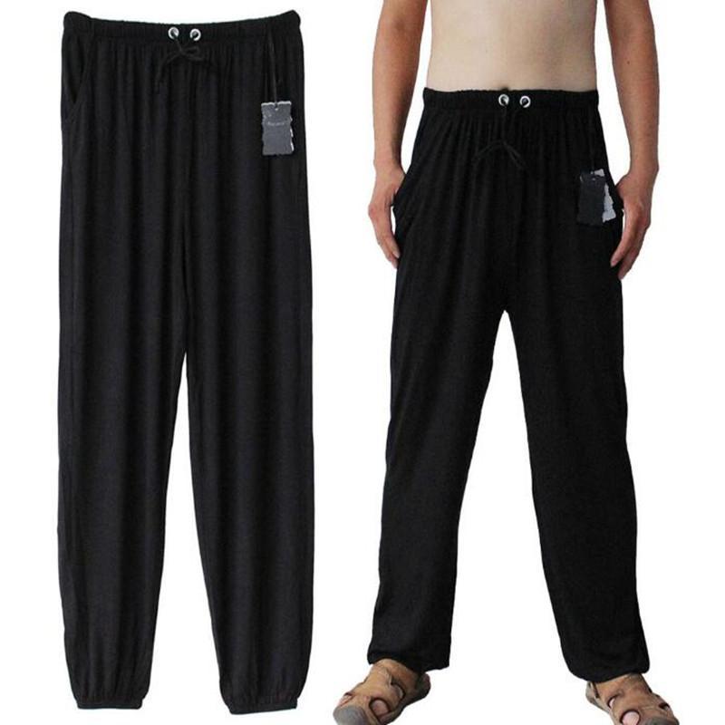 Erkekler Joggers ter pantolon gelgit gevşek ev pantolon eğlence pantolon artı SizeMen Ince dipleri elastik Bel