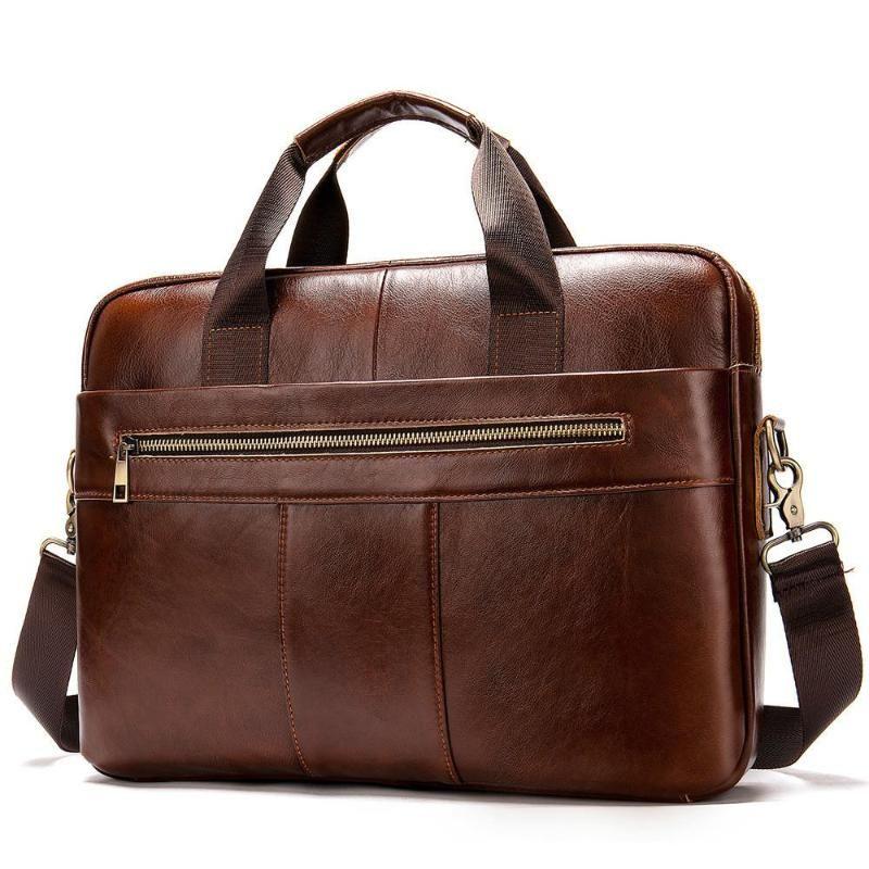 Casual couro genuíno Homens Pasta Waterproof Men Shoulder Bag Desinger Masculino Negócios Laptop sacos Mens Handbag Grande
