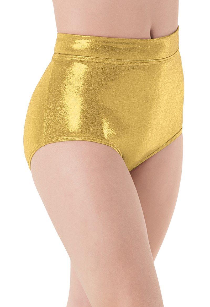 Adult Ballet Shiny Metallic shorts Performance Dancer Bottoms Spandex Lycra Underpants Women Workout Cheer Booty Dance Shorts