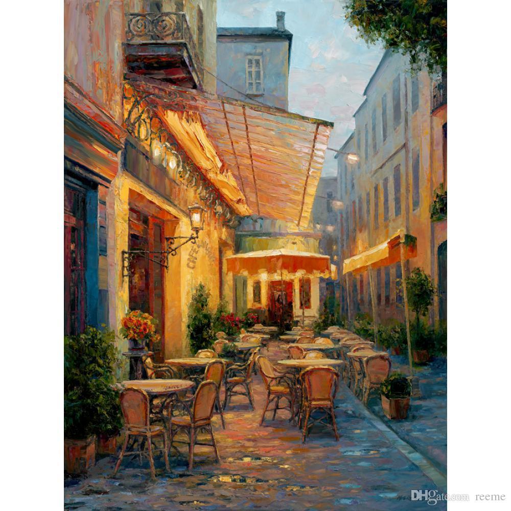 El boyalı Manzara yağlıboya Cafe Van Gogh, Arles Fransa duvar dekor için tuval sanat