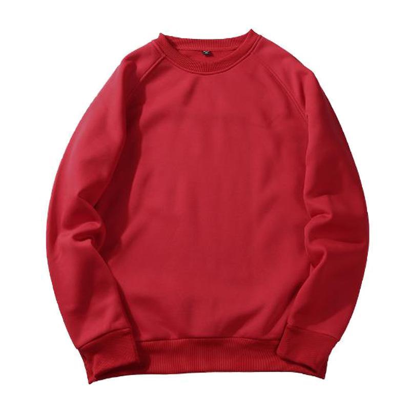 Solid Sweatshirt Men Hoodie Crewneck Sweatshirts Winter Autumn Hoody Casual Christmas Pullover Tops Outwear Hip Hop Streetwear
