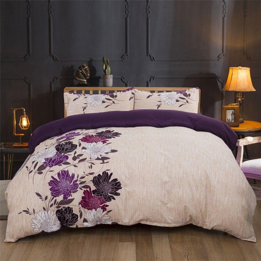 Flores Floral Impresso Cama Suit capa do edredon 3 Pics capa de edredão de alta qualidade roupa de cama conjuntos de cama Supplies Home Textiles