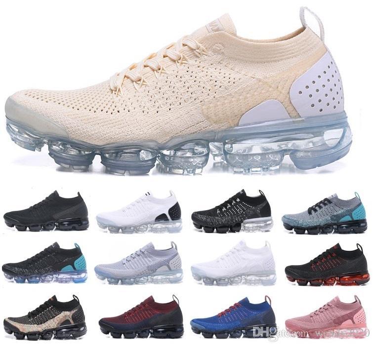 2018 2.0 erkek tasarımcı koşu ayakkabıları erkekler rahat hava yastığı eğitmenler kadın zapatos spor ayakkabısı US5.5-11 yürüyüş eğitmenler chaussures elbise