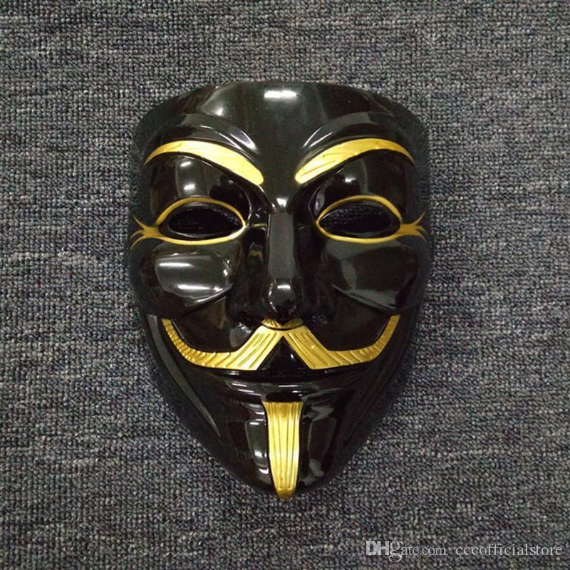 50шт 2020 Дешевые маскарадные маски V Маска Vendetta партии Маска V Маска Маскарад для Vendetta Anonymous Валентина Болл